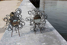 Small Medusa Mirror by Susan Woods (Metal MIrror)