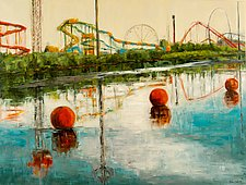 Reflecting on Fun by Jan Fordyce (Oil Painting)