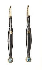M-Pods with Blue Zircon by Alison Antelman (Silver & Stone Earrings)