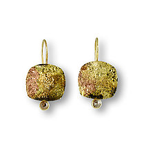 Raw Diamond Earrings by Susan Ronan (Gold, Steel & Stone Earrings)