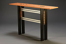 Ebony Squared by Carol Jackson (Wood Console Table)