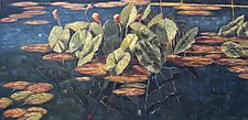 Floating Lilies by Jan Fordyce (Oil Painting)