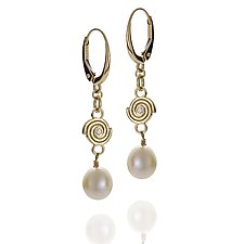 Delicate Spiral Earrings by Martha Seely (Gold, Silver & Stone Earrings)