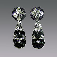 Chrysler Building Earrings by Julie Long Gallegos (Beaded Earrings)