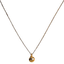 Natasha Black Diamond & Baby Pearl Tiny Pendant Necklace by Tracy Arrington (Gold, Silver & Stone Necklace)