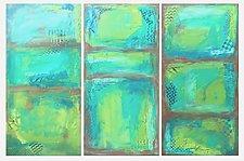 Seaside Trio by Leslie Saeta (Acrylic Painting)
