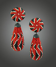 Holiday Beaded Earrings by Julie Long Gallegos (Beaded Earrings)