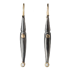 M-Pods with Diamonds by Alison Antelman (Gold, Silver & Stone Earrings)