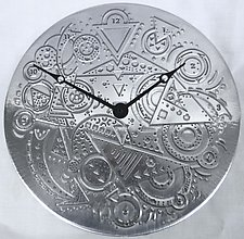 Clockworks by Evy Rogers (Aluminum Clock)