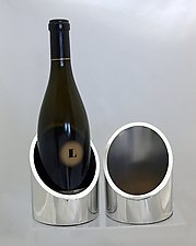 Clearly Modern Wine Stand by Evy Rogers (Metal Wine Stand)
