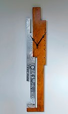 Cherry Flourish Wall Clock by Evy Rogers (Wood & Metal Clock)