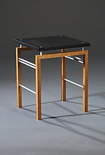 U Side Table by Carol Jackson (Wood & Metal Side Table)
