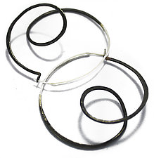 Loop d Loop Hoops by Leia Zumbro (Gold & Steel Earrings)
