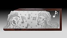 The Concert by Evy Rogers (Wood & Metal Wall Sculpture)