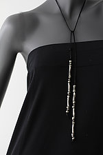 Lariat I by John Siever (Silver Bead Necklace)