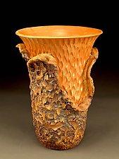 Modest Organic Peeled Sheeno Vessel by Daniel  Bennett (Ceramic Vase)