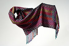 Brights Mosaic Scarf by Muffy Young  (Silk Scarf)