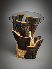 Formations End Table by Aaron Laux (Wood Side Table)