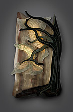 Bonsai by Aaron Laux (Wood Wall Sculpture)