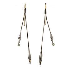 Branches Earrings by Alison Antelman (Gold, Silver & Stone Earrings)