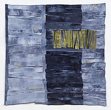 Chasms 5: City of Contrast by Beth Carney (Fiber Wall Hanging)