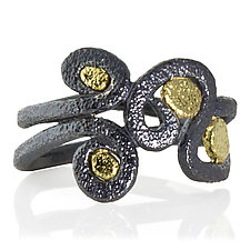 Whirlpool Ring by Rona Fisher (Gold & Silver Ring)