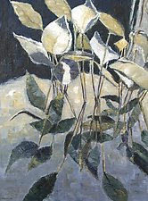 Reflected Lilies by Jan Fordyce (Oil Painting)