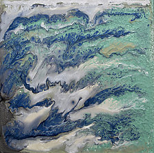Water Waved by Jan Fordyce (Mixed-Media Painting)