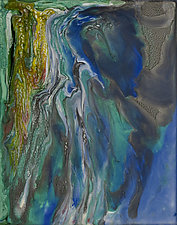 Merging Ripples by Jan Fordyce (Mixed-Media Painting)