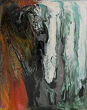 Falling Mist by Jan Fordyce (Mixed-Media Painting)