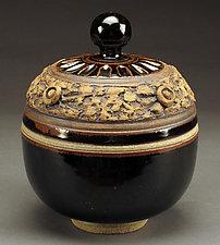 Black Lidded Tureen by Daniel  Bennett (Ceramic Vessel)