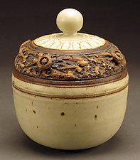 Creamy White Lidded Tureen by Daniel  Bennett (Ceramic Bowl)