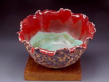 Petite Turquoise Organic Bowl by Daniel  Bennett (Ceramic Bowl)