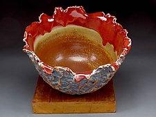 Petite Rustic Brown Organic Bowl by Daniel  Bennett (Ceramic Bowl)