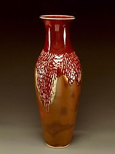 Vast Southwest Red & Rustic Dimple Vessel by Daniel  Bennett (Ceramic Vessel)