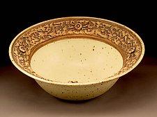 Natural White Textured Centerpiece Bowl by Daniel  Bennett (Ceramic Bowl)