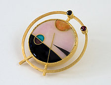 Cloisonne Enamel Convertible Pin/Pendant II by Jan Van Diver (Enameled Brooch)