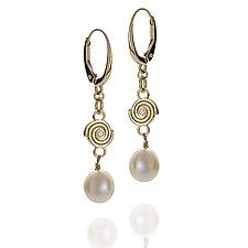 Delicate Spiral Earrings by Martha Seely (Gold, Silver & Stone Earrings)