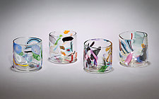 Cane & Murrini Rocks Glasses by Gina Lunn (Art Glass Tumblers)