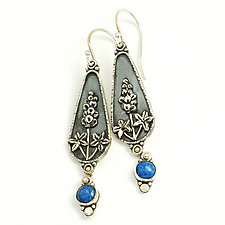 Bluebonnet Earrings by Vickie  Hallmark (Silver & Stone Earrings)