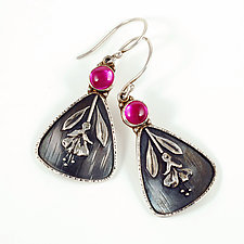 Fuchsia Earrings by Vickie  Hallmark (Silver & Stone Earrings)