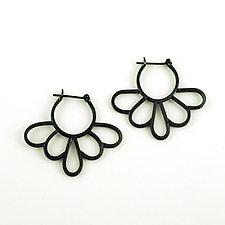 Daisy Hoops by Vickie  Hallmark (Silver Earrings)