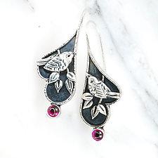 Ruby Wren Earrings by Vickie  Hallmark (Silver & Stone Earrings)