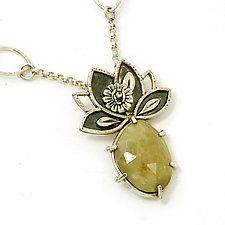 Green Lotus Pendant by Vickie  Hallmark (Jewelry Necklaces)