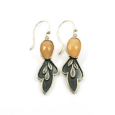 Moon Leaf Earrings by Vickie  Hallmark (Silver & Stone Earrings)
