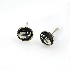 Sprig Dot Studs by Vickie  Hallmark (Silver Earrings)