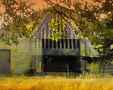 Shadow Barn by Eugenie Torgerson (Color Photograph)