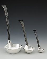 Craftsman Soup Ladle by Nicole and Harry Hansen (Metal Serving Ware)