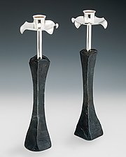 Tall Petal Candlesticks by Nicole and Harry Hansen (Metal Candleholders)