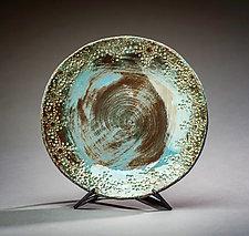 Blue Ocean Bowl by Valerie Seaberg (Ceramic Bowl)